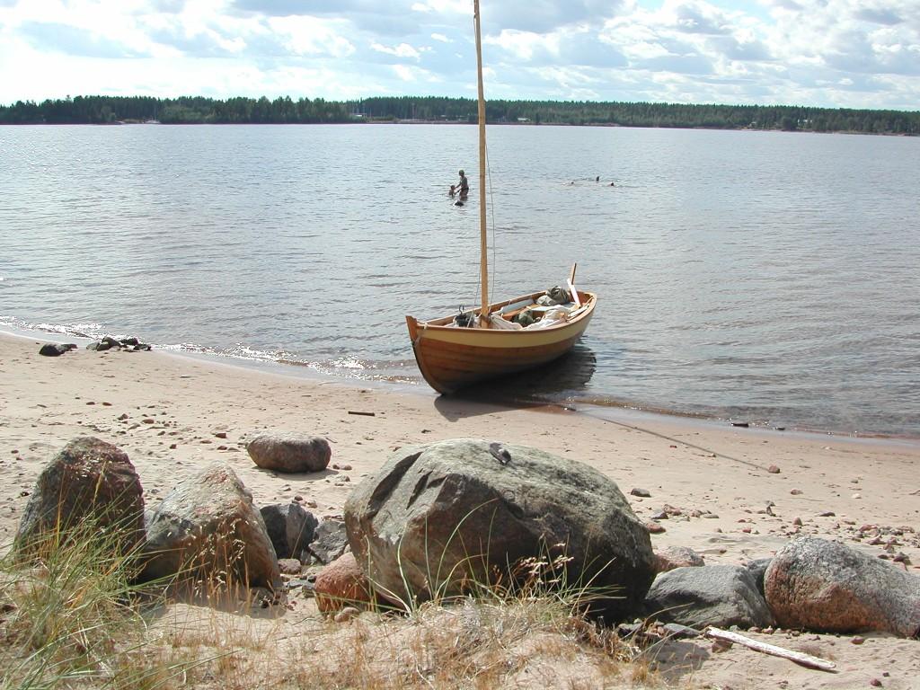 Första turen, strandhugg på Gräsjälören, Södra stadsviken, Luleå